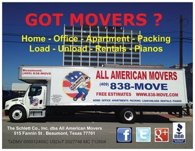 All American Movers of Southeast Texas, Beaumont